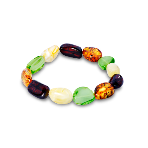 Pure Amber Bracelet with Mixed Beads