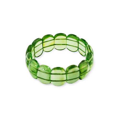 Bracelet with Green Amber