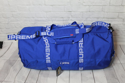 BNWT Supreme Large Duffle Bag Royal Blue