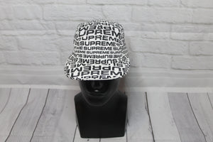 BNWT Supreme Repeater Camp Cap White/Black