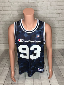 Bape x Champion Blue Color Camo Jersey