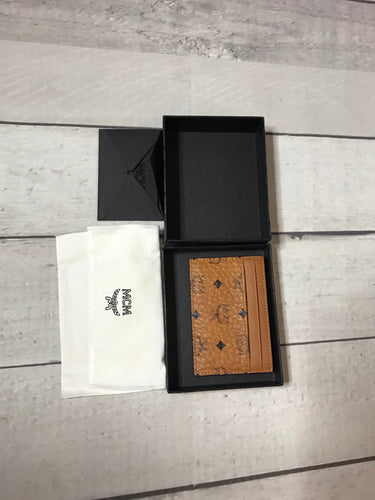 MCM Cognac Card Holder