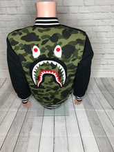 Bape Shark Sweat Varsity Jacket