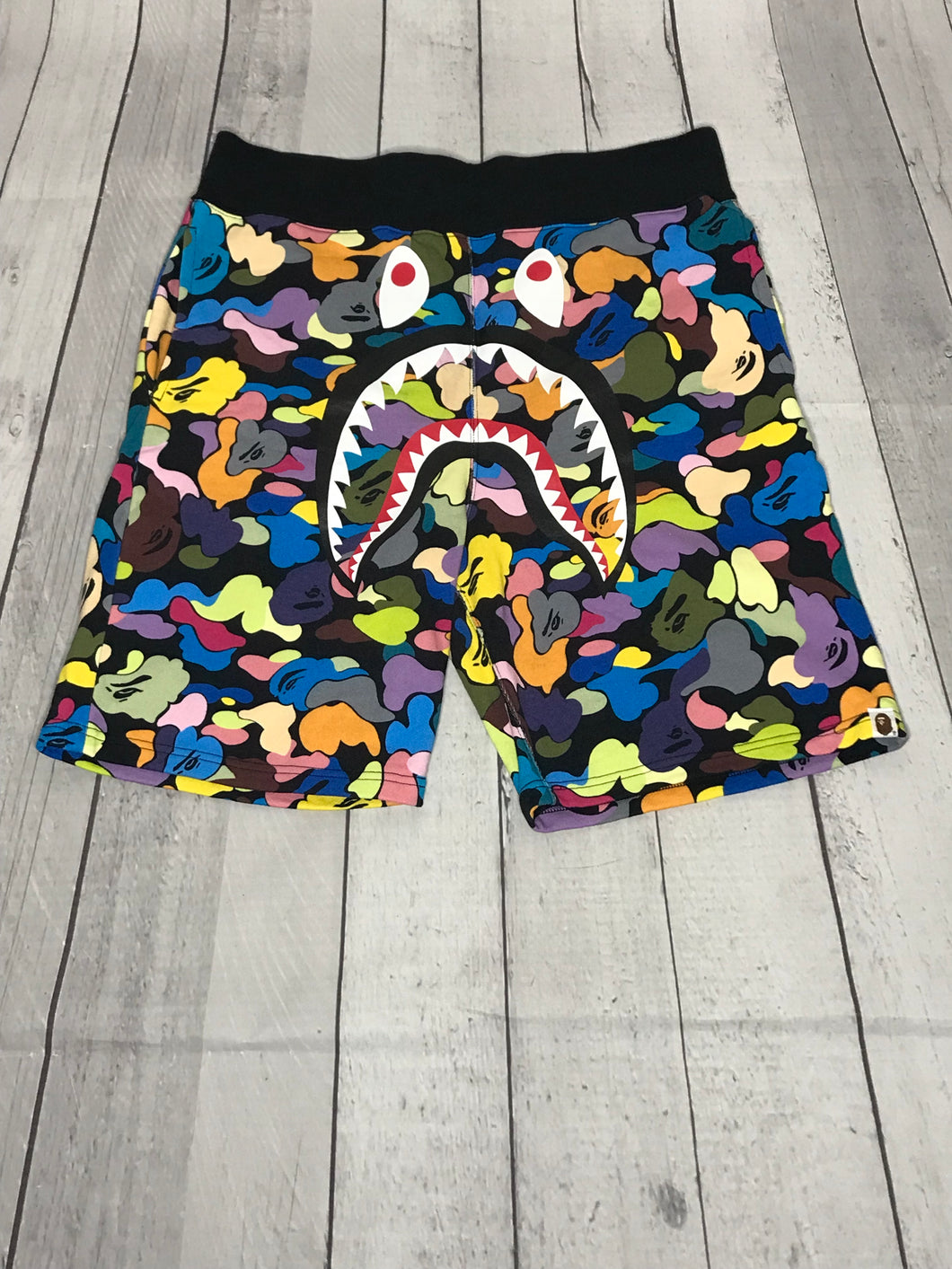 Bape Multi Color Camo Shorts