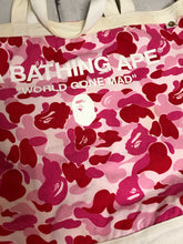 Bape ABC Red Color Camo Tote Bag