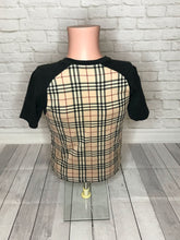 Burberry Plaid Tee Sz. S