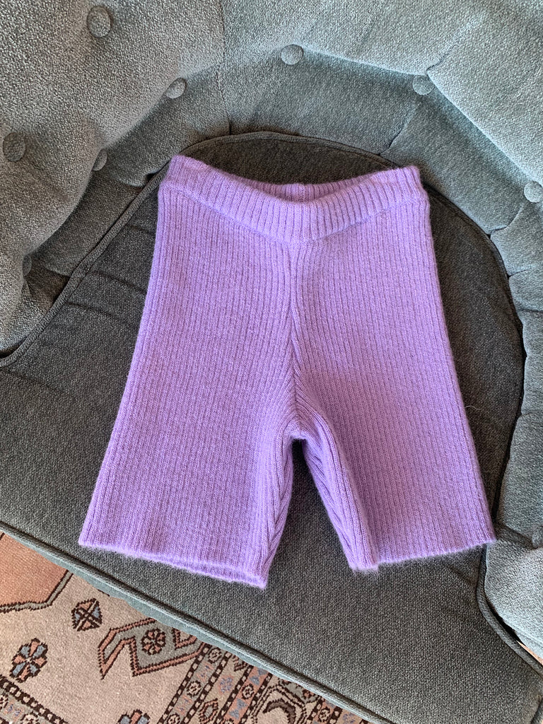 Bel Air Biker Shorts - Lilac