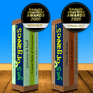 Yes Organics WINS Best Lip Balm Award in Beauty Shortlist Awards 2020