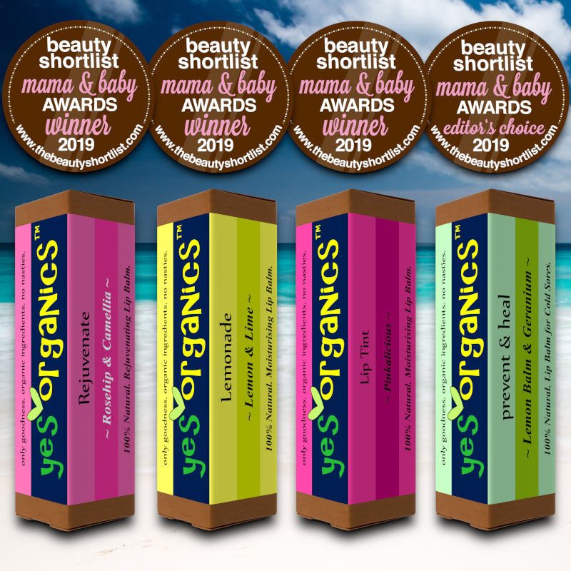 Yes Organics | Mama & Baby Awards Winners 2019 | Award Winning Lip Balms