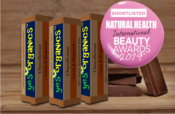 Yes Organics Shortlisted in Natural Health International Beauty Awards 2019 for Best Lip Balm Award
