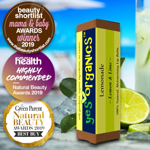 Award-Winning Lip Balm | Yes Organics New Zealand | Lemon & Lime Lip Balm