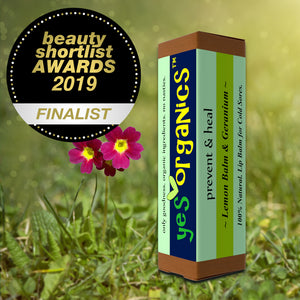 Award Winning Cold Sore Remedy Lip Balm | Yes Organics | Natural Cold Sore Treatment | Lemon Balm | Melissa Oil