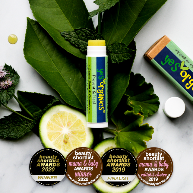 Prevent & Heal Cold Sores | Award Winning Cold Sore Remedy Lip Balm | Yes Organics | Natural Cold Sore Treatment | Lemon Balm | Melissa Oil Cold Sore Lip Balm