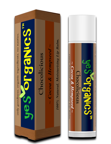 Yes Organics | Hemp Lip Balm | Lip Balm for Chapped Lips | Cocoa & Hempseed Lip Balm NZ | Hemp Lip Balm Australia | Award Winning