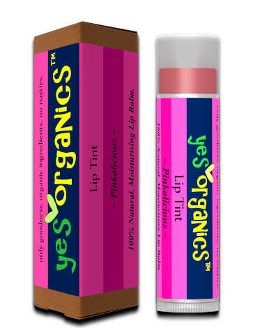 Tinted Lip Balm | Lip Gloss | Natural Lip Tint | Yes Organics | Pinkalicious Lip Balm | Cheek Tint