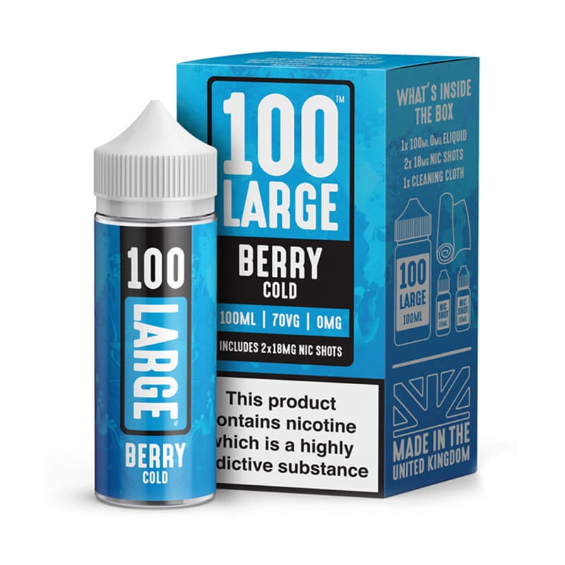 Berry Cold Eliquid By 100 Large 100ml - Valda Vapes