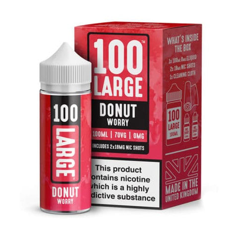 DONUT WORRY E-LIQUID BY 100 LARGE 100ML - Valda Vapes