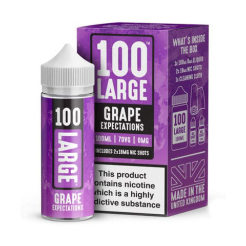 GRAPE EXPECTATIONS E-LIQUID BY 100 LARGE 100ML
