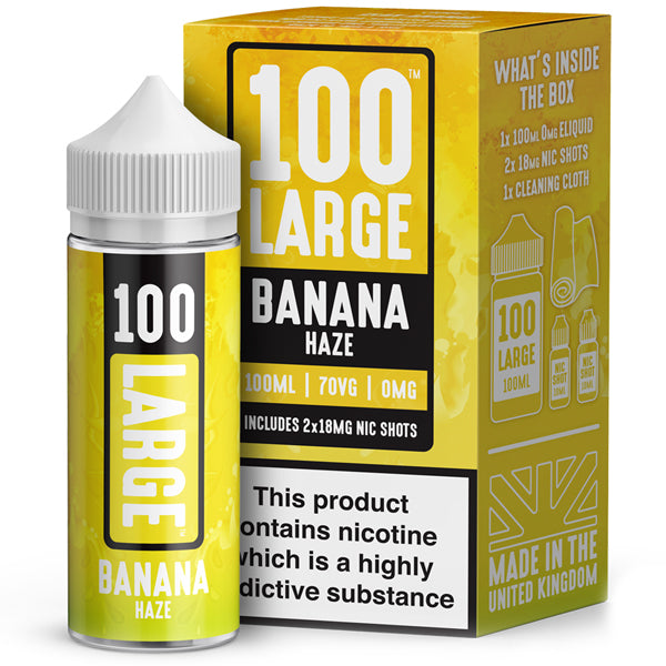Banana Haze Eliquid By 100 Large 100ml - Valda Vapes