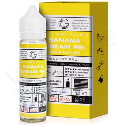 Banana Cream Pie Eliquid By Glas Basix 50ml - Valda Vapes