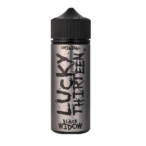 BLACK WIDOW E-LIQUID BY LUCKY THIRTEEN