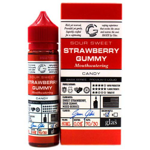 Strawberry Gummy Eliquid By Glas Basix - Valda Vapes