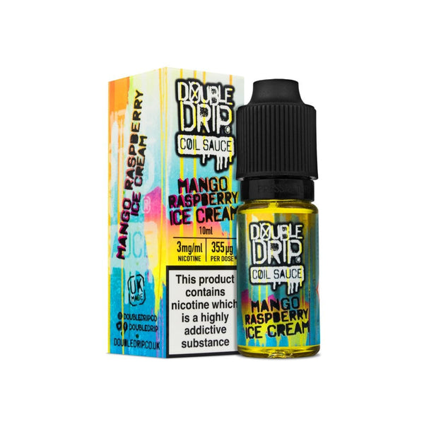 MANGO RASPBERRY ICE CREAM E-LIQUID BY DOUBLE DRIP