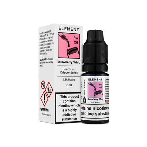 STRAWBERRY WHIP DRIPPER E-LIQUID BY ELEMENTS