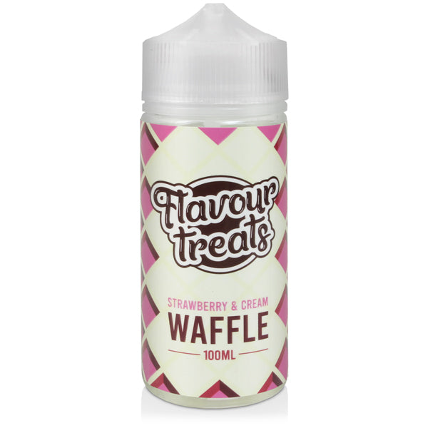 STRAWBERRY AND CREAM WAFFLE E-LIQUID BY FLAVOUR TREATS