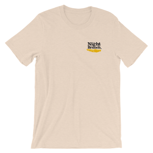 The Night Brunch - Spilled Logo Tee (Mustard)