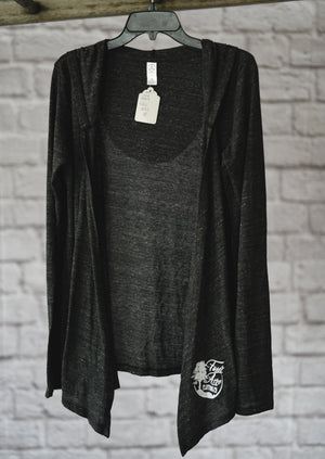 Cardigan with Hood || Dark Grey