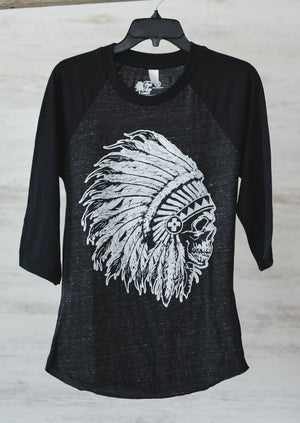 Indian Head Baseball Tee