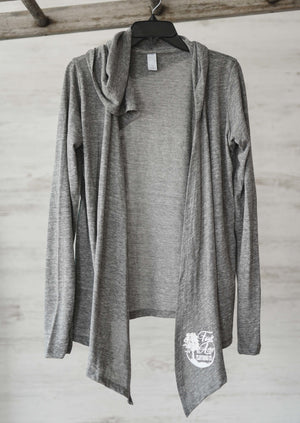 Cardigan with Hood || Grey