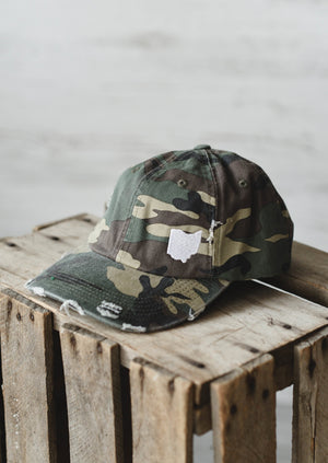 Ohio Dad Hat || Camo