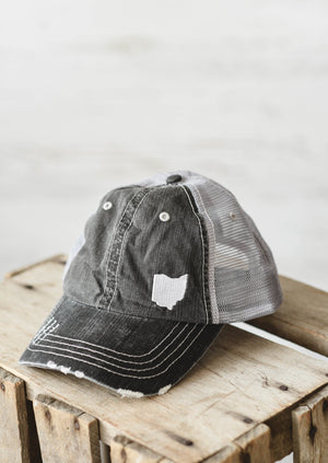 Ohio Dad Hat || Mesh Grey