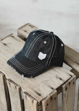 Ohio Dad Hat || Mesh Black