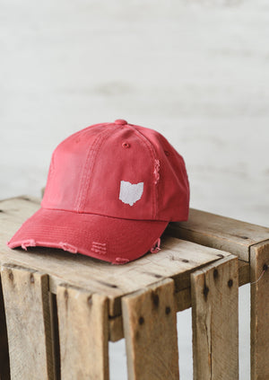 Ohio Dad Hat || Red