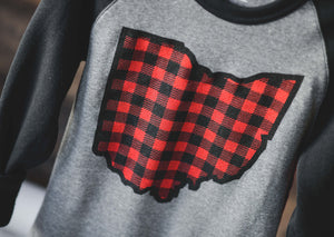 Buffalo Plaid OHIO || Crew Sweatshirt
