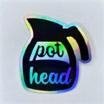 Pot Head Shiny Sticker
