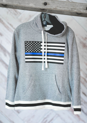 Thin Blue Line Of Support II Hoodie