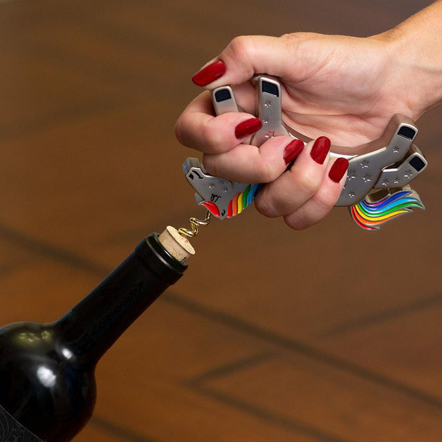 unicorn wine bottle opener decorative corkscrew