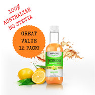 Blended Kombucha - Ginger Brew and Lemon Mint 375ml - Great Value Mixed 12 Pack - All Bodhi Health