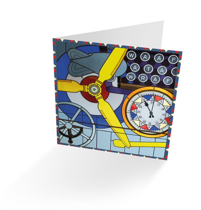 'Women in Service of RAF' Stained Glass Window Card