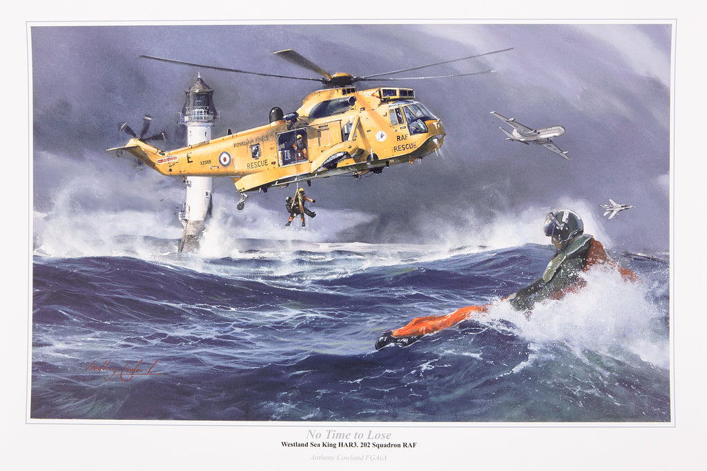Search & Rescue Triptych No Time to Lose Print