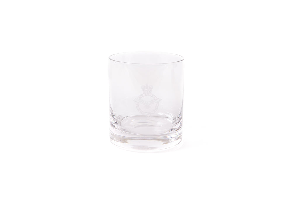 RAF Club Crest Glass Whisky Tumbler