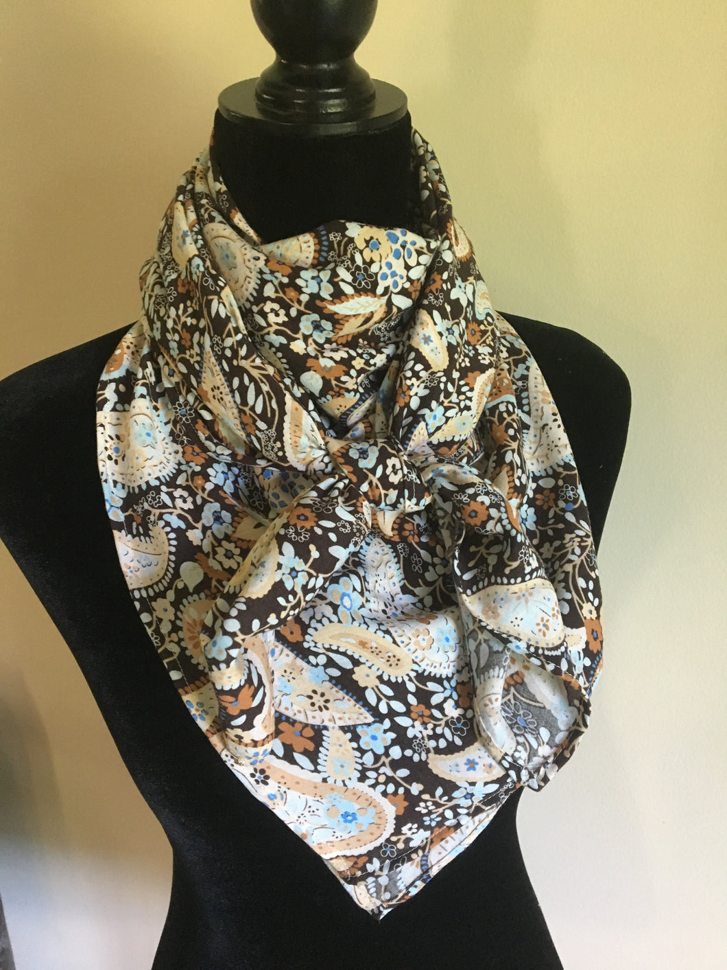 Brown and Blue Paisley Wild Rag - SALE - Wild Plains