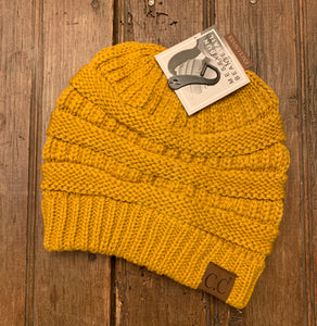 Cable Knit Tail Beanie