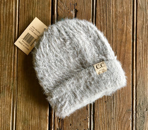 Kids Fuzzy Solid Beanie - SALE - Wild Plains