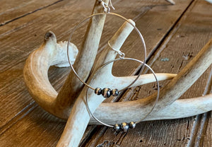 3 Navajo Pearl Hoop Earrings - Wild Plains
