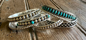 5MM Ball Cuff with Turquoise - Wild Plains